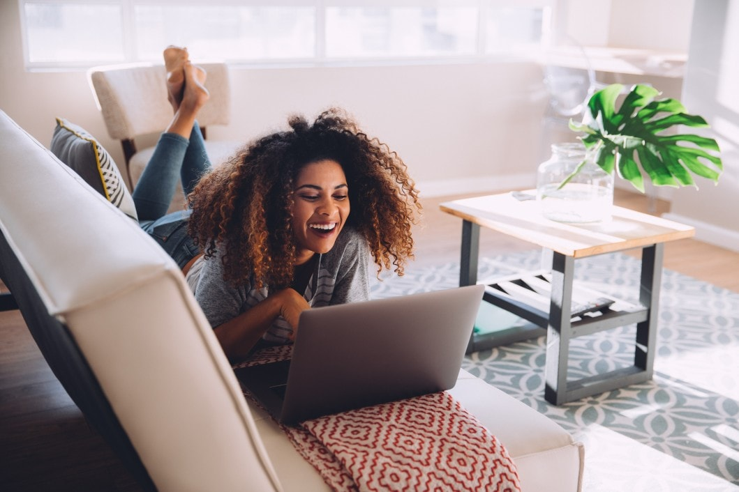 Woman Realizing She Can Save on Loans